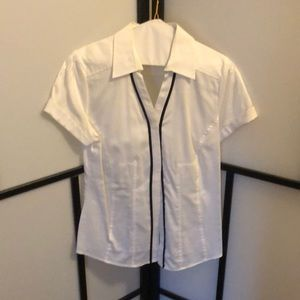 White Blouse with black accents